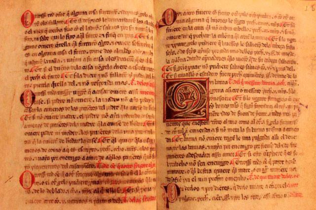 """Reproducción del """"Fuero Extenso"""" de Sepúlveda del año 1.305."""