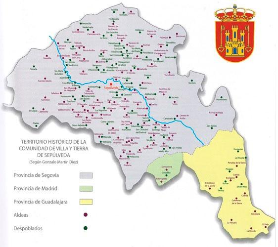 Territorio de la Comunidad de Villa y Tierra de Sepúlveda entre los siglos XII y XIV